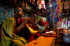 The festival starts with the morning prayers, as every single day at the monastery.