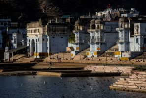 Ghats of Pushkar, India.
